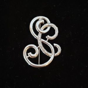 Vintage Sarah Coventry SC Silver Tone Pin